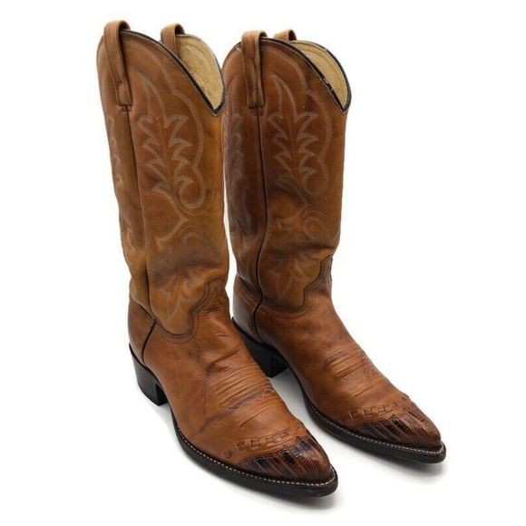J. Chisholm Other - J. Chisholm Men Cowboy Western Boots Brown Leather